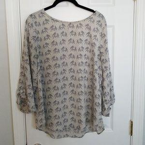 Soft Pixley Blouse with elephant pattern